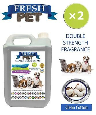 Fresh Pet Niche Chien Désinfectant Double Force Parfum - 5L Propre Coton