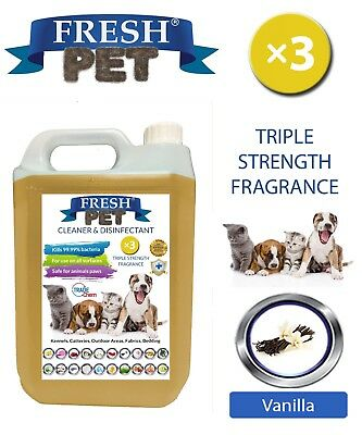Fresh Pet Niche Chien Désinfectant Triple Force Parfum - 5L Vanille
