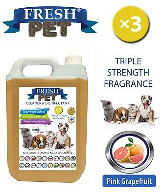 Fresh Pet Niche Chien Désinfectant Triple Force Parfum - 5L Pamplemousse Rose