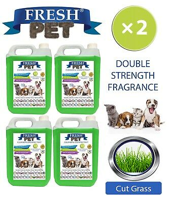 Fresh Pet Niche Chien Désinfectant Double Force Parfum 4x5L Coupe Pelouse