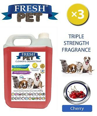 Fresh Pet Niche Chien Désinfectant Triple Force Parfum - 5L Cerise