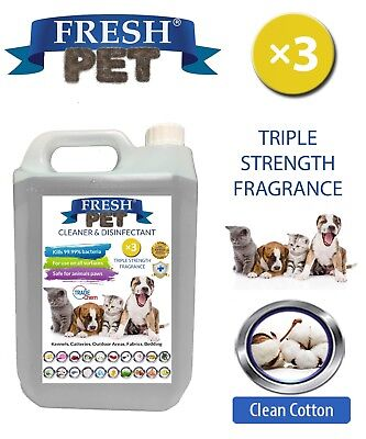 Fresh Pet Niche Chien Désinfectant Triple Force Parfum - 5L Propre Coton