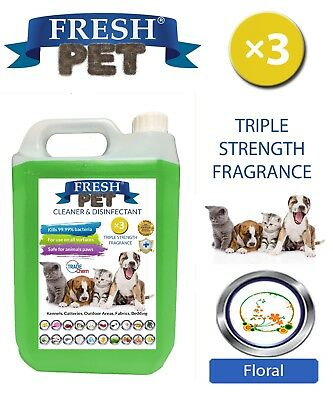 Fresh Pet Animal de Compagnie Désinfectant Triple Force - 5L Floral