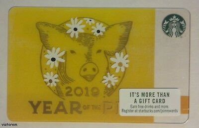 Starbucks Card 2019 Chinese New Year - Year of the Pig