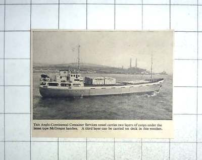 1958 The Anglo Continental Container Services Vessel, New Mcgregor Hatches