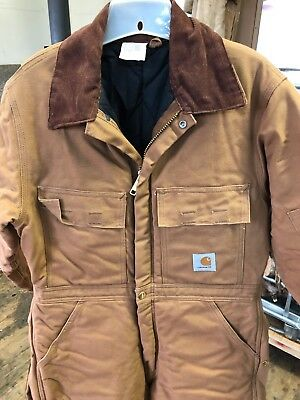 CARHARTT QUILT INSULATED COVERALL 38 S excellent condition