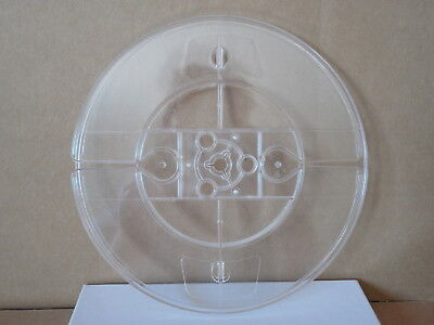 """CLEAR PLASTIC 7"""" x 1/4"""" LOW-TORQUE TAPE TAKE-UP REELS W/BOX; REEL TO REEL; NOS!"""