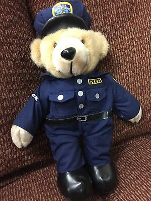 "New York City Police Department NYPD Teddy Bear 2010  14"" soft"
