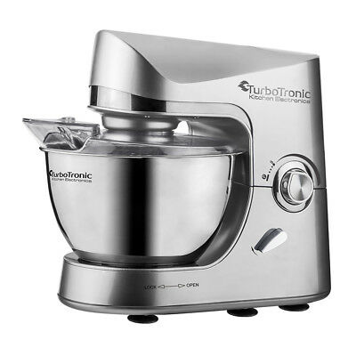 TurboTronic 2000W Electric Food Stand Mixer 5L Bowl With Dough Hook,Beater,Whisk