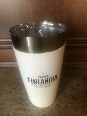 Finlandia Vodka Bar Shaker and Pint Glass New Excellent Condition