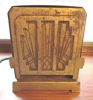Antique~ Made Rite Mfg. Art Deco Style 2 Sided Toaster, Works!