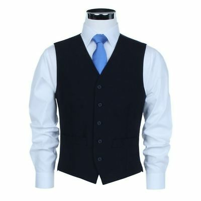 SCOTT Wool Blend Formal Waistcoat in Navy in Chest Size 34 to 60, S/R/L