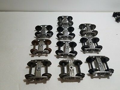 10 Pieces Lot of O Scale Trucks with Wheel Sets Lot 2