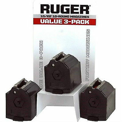 Factory Ruger 10 22 10/22 10-22 BX-1 Magazine Mag Clip 10rd Value 3-Pack
