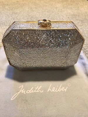 2393df000118c JUDITH LEIBER Minaudière Swarovski Crystal Evening Bag Clutch Purse GORGEOUS