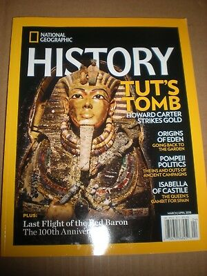National Geographic History Magazine,  March/April 2018, King Tut, Pompeii