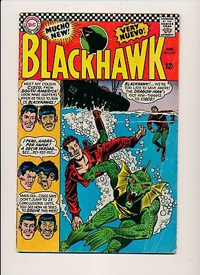 DC Comics BLACKHAWK #219 Dragon-Man 1966 VG (HX786)