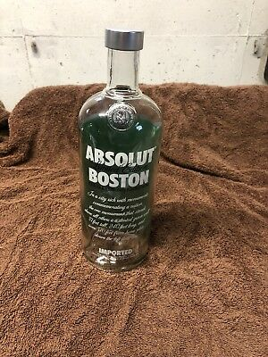 Limited Edition Empty Absolut Vodka Boston Bottle - Red Sox