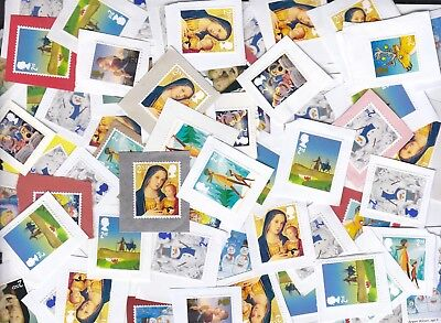 1000 UNFRANKED 2nd class christmas stamps on paper,great ,free shipping!!!!!!!!!