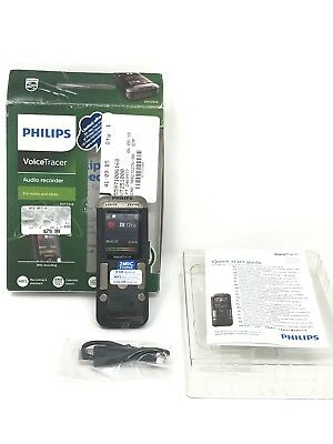 Philips VoiceTracer Speech 2-Mic Stereo Digital Audio Voice Recorder DVT2510