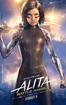 ALITA Battle Angel Auth Orig D/S 4x 6 ft Movie BUS SHELTER Size Poster Banner