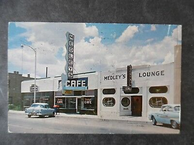 1960 Santa Rosa New Mexico Medley's Cafe Lounge Curios Route 66 Postcard