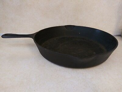 Vintage Griswold 716 Cast Iron Pan No.10 Small Logo 10 Eric Pa