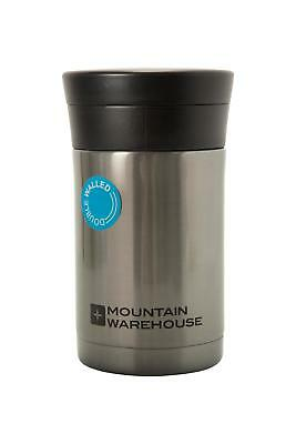 Mountain Warehouse Food Flask & Spoon in Silver w/ Spoon Included & Food Safe