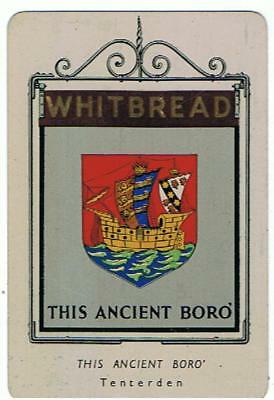 Whitbread Inn Sign Metal This Ancient Boro, no. 19 from the 1st Series
