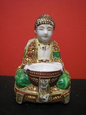 Collectable Hand Painted Buddha porcelain Figure Figurine. Made in Japan