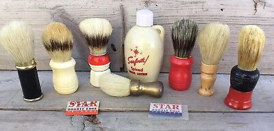 Vintage Shaving Brushes, Razors And Aftershave Lot Surrey, Eveready
