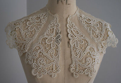 Antique guipure lace and net collar