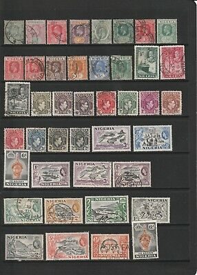 Nigeria - Interesting Early Stamp Selection  (1413)