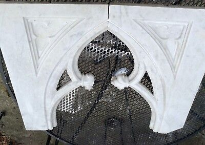 Antique Marble Architectural Fragments Salvage Partial Gothic Church Window