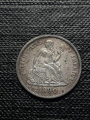 1890 Seated Liberty Silver Dime