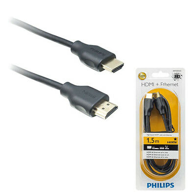 Philips Cable HDMI Alta velocidad Ultra HD 4K HDTV PS4 PS3 Xbox 360 PC BluRay
