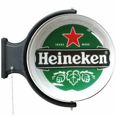 Heineken Rotating Beer Light beer cave man cave pub light double-sided light