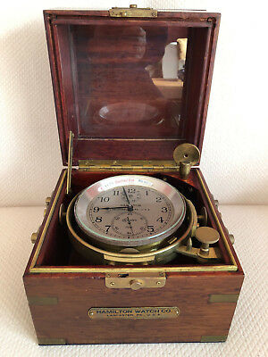 Fabulous Hamilton Model 21 Marine Chronometer (Ship's Clock) NO RESERVE!