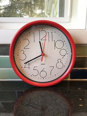 In the Box! Vintage/Retro Red Wall Clock