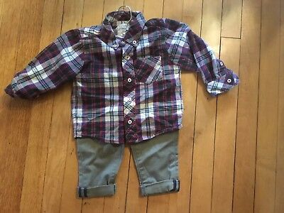 Peek Little Peanut Boys Outfit Lot Of 2, Size 18-24 Mo