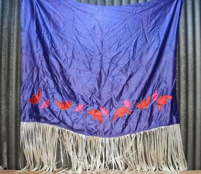 Vintage Grass Dance Regalia Satin American Fancy Shawl Pow Wow traditional