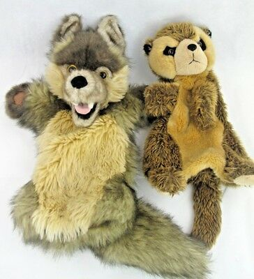 Puppet Company Meerkat And Puppet Co wolf - Hand Puppets Bundle