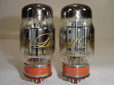 2 New Genalex Gold Lion KT88 6550 Factory Matched Premium Amplifier Tube Pair #1