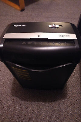 AmazonBasics 5-6 Sheet Cross Cut Shredder with Removable Bin for Paper and Credi