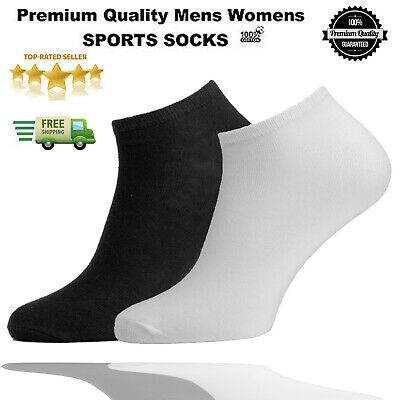 1 3 6 Pairs Mens Women's Trainer Liner Ankle Cotton Rich Sports Gym Socks UK LOT
