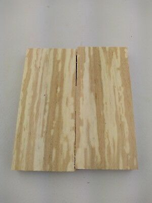 Pair of Spalted Birch Wood Scales Knife Handle Crafts Making Blanks SPALBIRCH