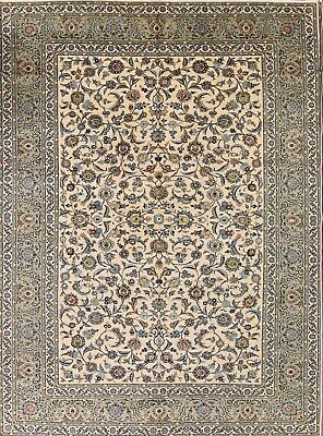 New All-Over Floral Ivory/Green Kaashan Persian Oriental Area Rug Wool 10x14