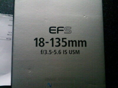 Verpackung / Emballage / Packaging Canon EFS 18-135mm f/3.5-5.6 IS USM