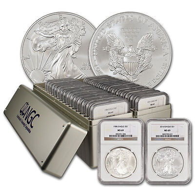 1986-2019 Complete Silver Eagle Set NGC MS69 34-Coins