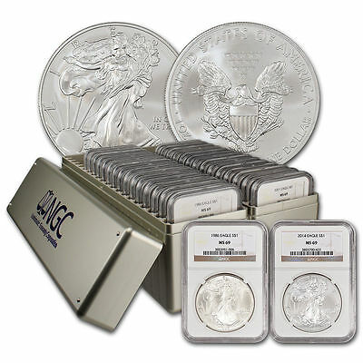 Complete NGC MS69 Silver Eagle Set (1986-2018)